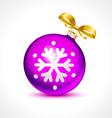 Christmas balls holiday background ribbon new vector image