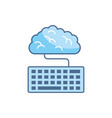 cloud computing school education learning line and vector image vector image