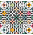Colored Seamless Flower Pattern in Oriental style vector image