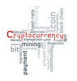 cryptocurrency word cloud vector image