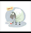 digital funny cartoon sheep vector image vector image