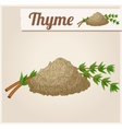 Dried thyme Detailed Icon vector image