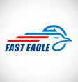 eagle business logo vector image