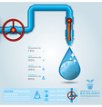 Ecology Water Pipeline Business Infographic vector image vector image