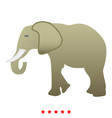 elephant icon color fill style vector image vector image