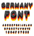 Germany font German flag on letters National vector image vector image