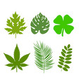 green leaf ecology nature element logo vector image vector image