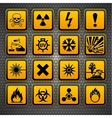 Hazardous materials symbols vector image