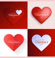 heart card set valentine day abstract background vector image