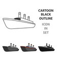 huge cargo black linership for transportation of vector image vector image