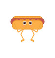 isolated hot dog emote with hands on mouth vector image