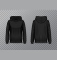isolated women hoody hoodie with long sleeves vector image vector image