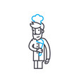 kitchen manager linear icon concept kitchen vector image