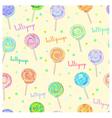 Lollipop pattern vector image vector image