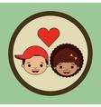 loving couple design vector image vector image