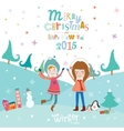Merry Christmascard in vector image