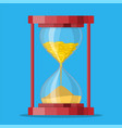 old style hourglass clocks vector image vector image