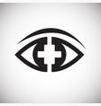 ophtalmology eye on white background vector image vector image
