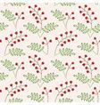 pattern berries vector image vector image