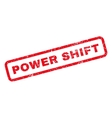 Power Shift Rubber Stamp vector image vector image