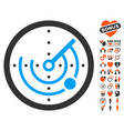 radar icon with lovely bonus vector image vector image
