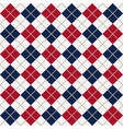 red and blue argyle harlequin seamless pattern vector image vector image