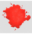 red blob vector image vector image