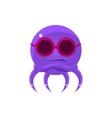 Sceptic Funny Octopus In Shades Emoji vector image vector image
