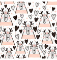 seamless childish pattern with cute girl dear vector image vector image