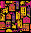 seamless house pattern new-01 vector image vector image