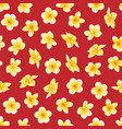 seamless pattern with flower plumeria or vector image vector image