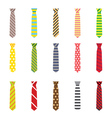 Set of Ties Isolated on White Background vector image vector image