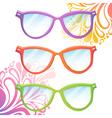 set trendy hipster transparent glasses vector image