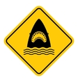 Shark attack warning vector image vector image