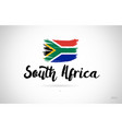south africa country flag concept with grunge vector image