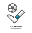 sport news flat icon vector image vector image