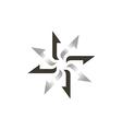 star arrow circle abstract logo vector image vector image
