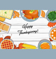 thanksgiving dinner on table vector image vector image