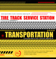 tire track service station background vector image