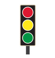 traffic light icon on white background traffic vector image vector image