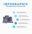 training course online computer chat infographics vector image vector image