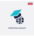 two color international graduate icon from vector image