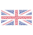 united kingdom flag pattern of flask items vector image vector image