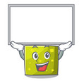 up board square character cartoon style vector image vector image