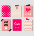 valentines day gift cards vector image vector image