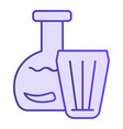 vodka in jar and glass flat icon vodka with vector image vector image