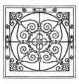 wrought-iron square panel is a antic pattern vector image vector image