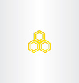 yellow logo honey comb icon vector image