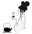 tea ceremony of the geisha japanese style vector image
