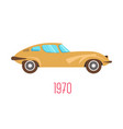 70s muscle car retro sport vehicle 1970s vector image